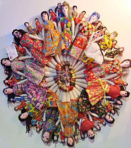 Mandala de bonecas das Artesãs de Riacho Fundo no 10º Salão do Artesanato Paraibano by casacombr