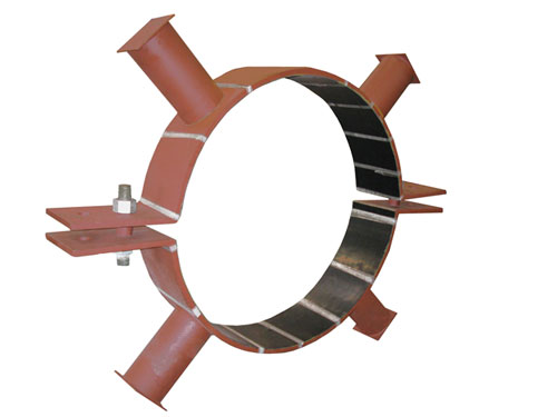 Riser clamps with neoprene lining for quot frp pipe