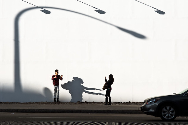 Shadow monster - Great Examples of Shadows in Street Photography