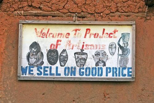 Artisans project sign, Volcanoes National Park