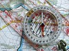 Map and Compass by Weeping-Willow Photography