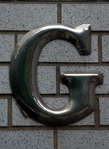 Aluminum Capital Letter G (New York,  NY)