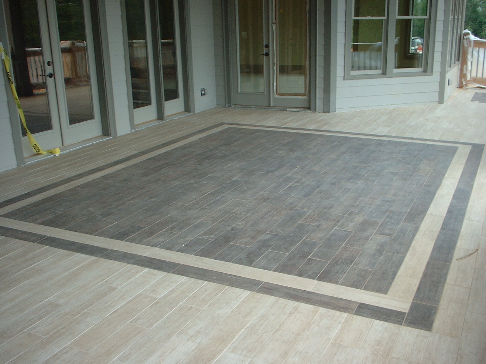Tiled porch flickr photo sharing for Cool floor designs