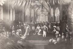 Carl Johans kroning 7 september 1818 / Coronation of general Jean Baptiste Bernadotte as king Karl III Johan of Norway (1818)