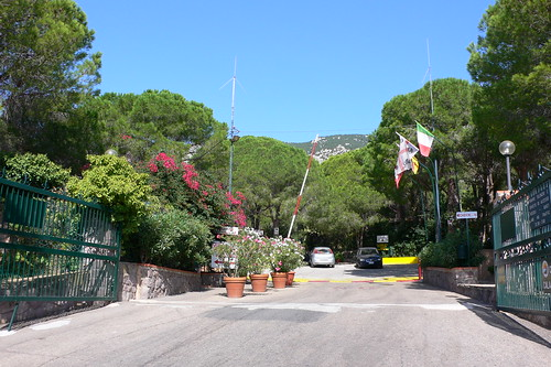 Entrance to Camping Cala Gonone