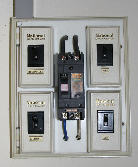 Thailand details 50 amp 220 breaker this panel was for How many amps is my electrical panel