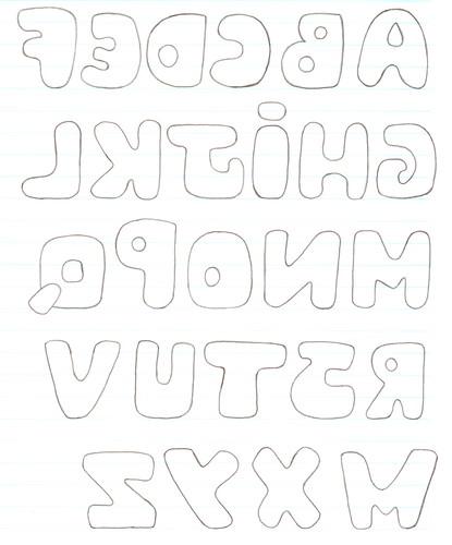 Letras del abecedario para patchwork - Imagui