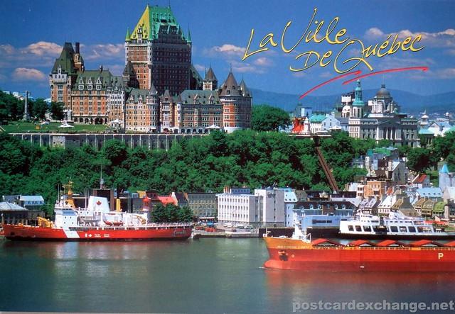 Postcard chateau frontenac la ville de quebec flickr for Piscine quebec