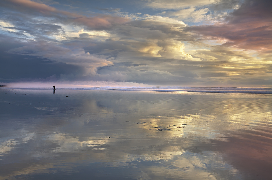 Walking on Glass - Pismo Beach, California