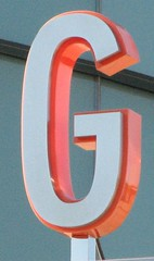 orange, signage, text, font,