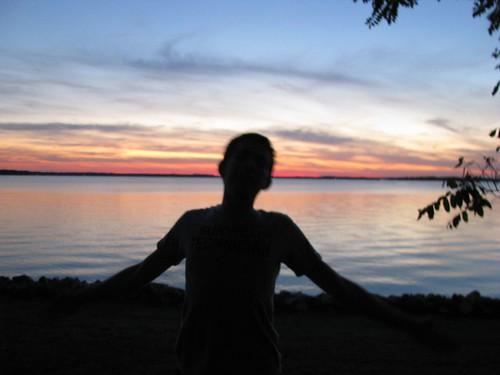 sunset jeff river gwynnsisland