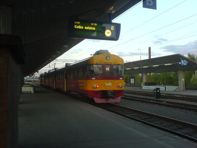Un tren en Finlandia