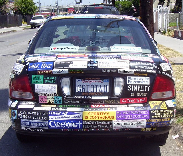 stickered cars  quot bumper stickered quot car flickr photo sharing