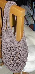 Taupe mesh shopping bag
