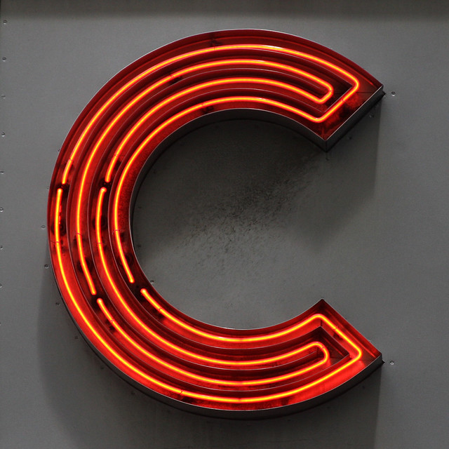 Letter c flickr photo sharing for Large neon letters