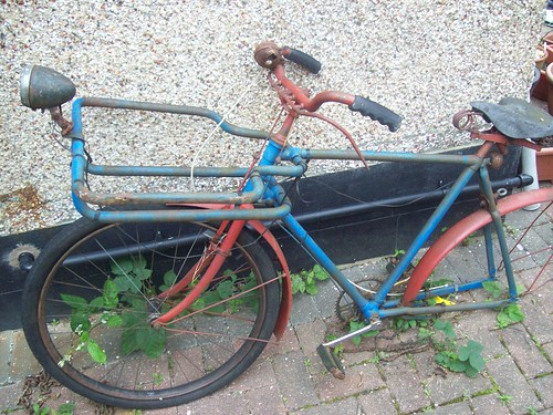 A 1959 trade bicycle, in need of repair.