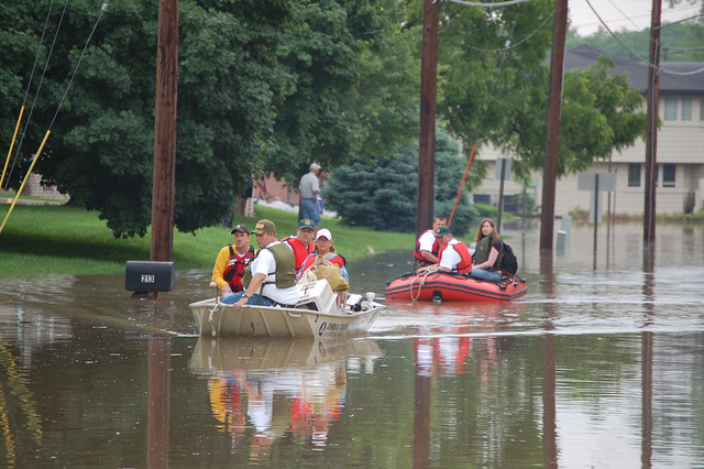 Rescued Flood Victims, Coralville, IA