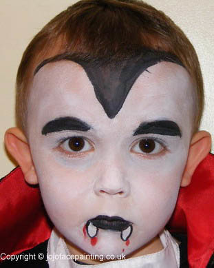 Face Painting Vampire | Flickr - Photo Sharing! Simple Clown Makeup Men
