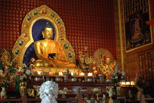 One of the World's most Beautiful Buddhas, Shrine, Sakya Monastery of Tibetan Buddhism, Seattle, Washington, USA by Wonderlane