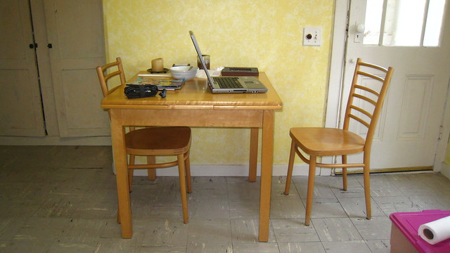 expandable kitchen table with two chairs  Flickr - Photo Sharing!