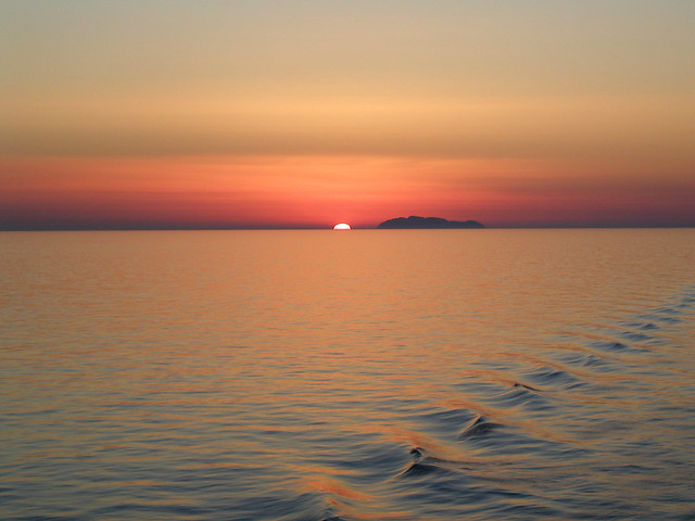 Sunset on the Med from a cruise ship