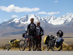 Randy and Nancy in front of Cordillera Blanca peak