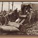 Unloading 15 inch Howitzer shells