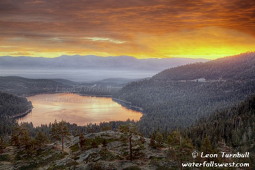 california lake sunrise truckee donnerlake goldstaraward