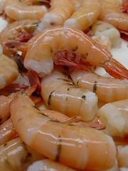 crustacean(0.0), produce(0.0), shrimp(1.0), seafood boil(1.0), dendrobranchiata(1.0), caridean shrimp(1.0), seafood(1.0), invertebrate(1.0), food(1.0), scampi(1.0), dish(1.0), cuisine(1.0),