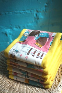 Vintage Burp Cloths