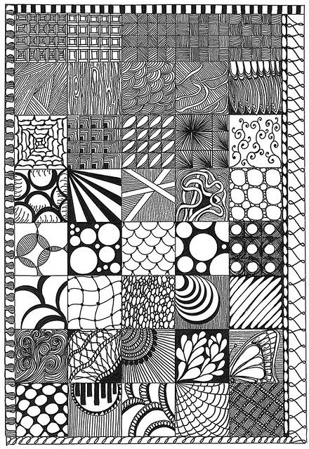 Line Art Zentangle : Zentangle samplers a gallery on flickr
