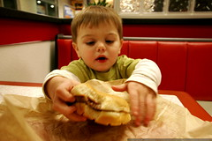 big hamburger, little kid    MG 2207