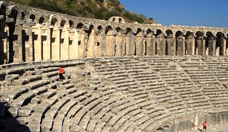 Some of the vast seating at the Aspendos theater
