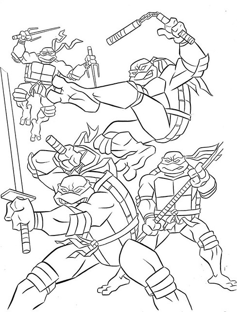 u0026quot teenage mutant ninja turtles u0026quot  coloring book by bendon