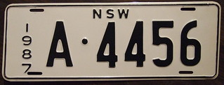AUSTRALIA, New South Wales 1987 dealer plate