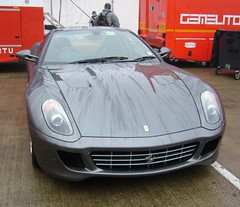 ferrari 612 scaglietti(0.0), race car(1.0), automobile(1.0), automotive exterior(1.0), ferrari 599 gtb fiorano(1.0), vehicle(1.0), performance car(1.0), automotive design(1.0), bumper(1.0), ferrari s.p.a.(1.0), land vehicle(1.0), luxury vehicle(1.0), supercar(1.0), sports car(1.0),