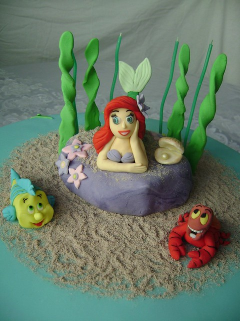 Bolo Ariel Pequena Sereia  - Ariel little mermaid cake