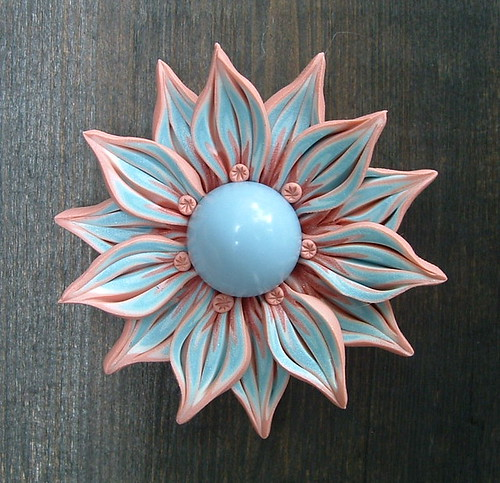 Pale Blue and Pink Pendant