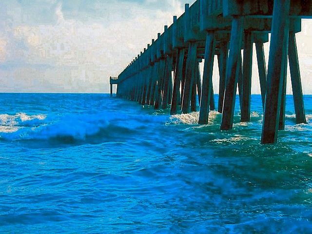 Fishing pier pensacola florida flickr photo sharing for Fishing piers in florida