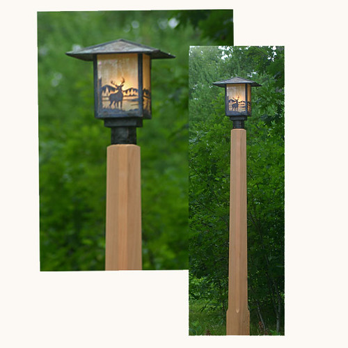 Rustic Outdoor Lighting With Cedar Lamp Post Flickr Photo Sharing