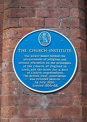 Photo of British Deaf Association and Church Institute blue plaque