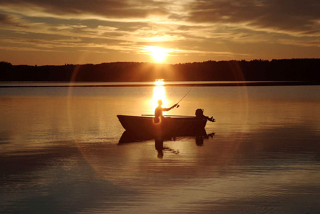 Finnish fisherman at sunset © Rob Watkins 2007