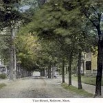 Vine Street Melrose, Massachusetts postcard