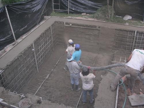 Piscinas de hormig n gunitado ingeniero de caminos for Como construir una piscina en concreto