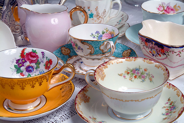 Some Mismatched Crockery By Vintage Tea Sets Clarabows