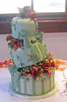 Fall Sage Wedding cake