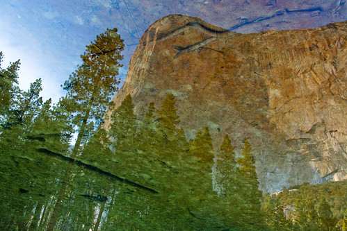 Yosemite river reflection.