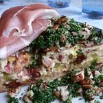 Käse-Lauch Quiche mit Petersilien Gremolata