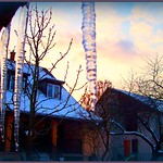 Winter's- afternoon with ice and sky