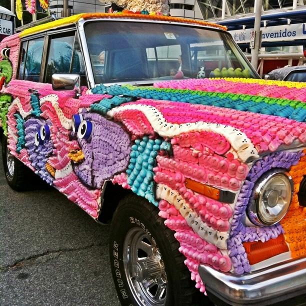 Best art car ever -- covered in marshmallow Peeps!